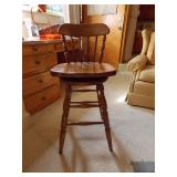 Set of 4 Swivel Wooden Bar Stools by Boling Chair Co. Siler City, NC